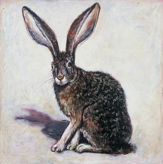 <em>Rabbit</em>, 2000, Oil/Panel, 24 x 24""
