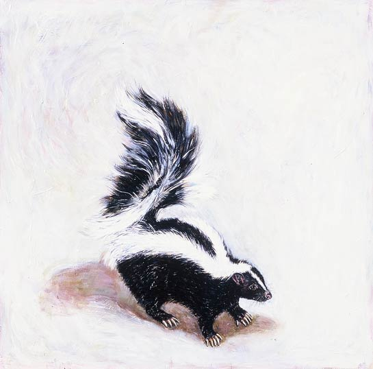 <em>Striped Skunk</em>, 1999, Oil/Panel, 24 x 24""