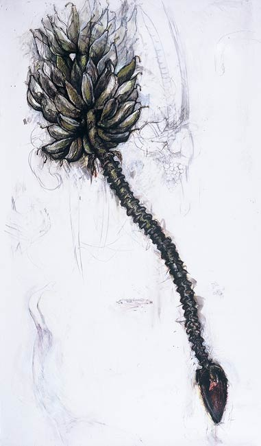 <em>Plant (Banana)</em>, 1998, Mixed Media/Drafting Film, 72 x 42""