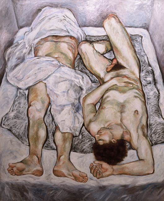 Insomniac's Bed, 1984, Oil/Canvas, 54 x 66""