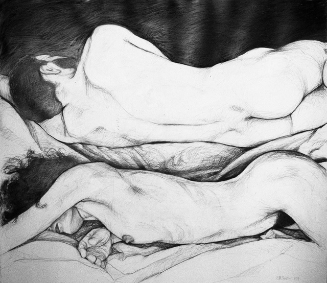 Sleepers I, 1989, Pencil/Paper, 42 x 48""