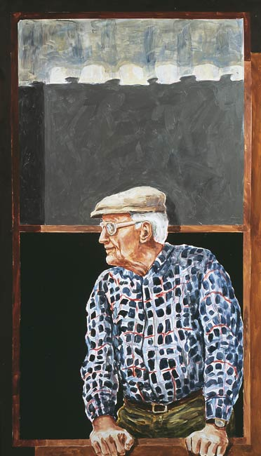 Old Man, 2002, Acrylic/Aluminum Panel, 5 x 3'