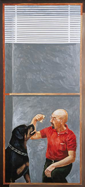 Lenny and Jim, 2002, Acrylic/Aluminum Panel, 9 x 6'