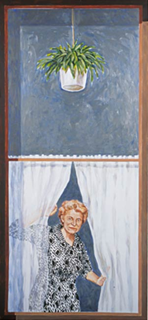 Mrs. Price, 2002, Acrylic/Aluminum Panel, 9 x 6'