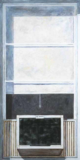 Air Conditioner, 2002, Acrylic/Aluminum Panel, 6.5 x 3'